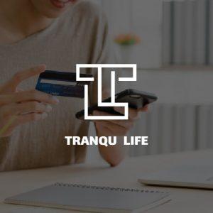 طراحی لوگو شرکت tranqu life